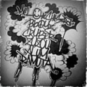 Tagging Art Print