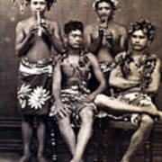 Tahiti: Men, C1890 Art Print