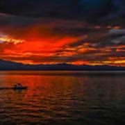 Tahoe Boat Ride Art Print