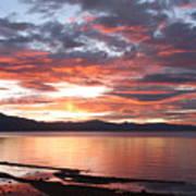 Tahoe June Sunset Art Print