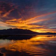 Tahoe Sunset Luminosity Art Print