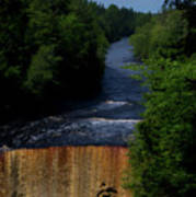 Tahquamenon Lower Falls Upper Peninsula Michigan Vertical 07 Art Print