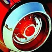 Tail Light American Car H B Art Print