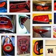 Tail Light Collage Number 1 Art Print