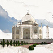 Taj Mahal Dreams Of India Art Print