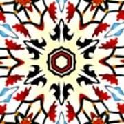 Taj Mahal Kaleidoscope Art Print