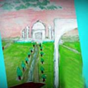 Taj Mahal Noon Art Print
