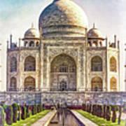 Taj Mahal - Paint Art Print