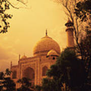 Taj Mahal Sunset Art Print