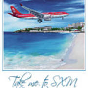 Take Me To Sxm- Poster Art Print