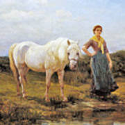 Taking A Horse To Water Art Print