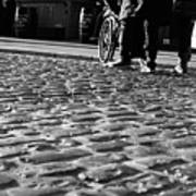 Taking On The Cobbles Art Print