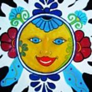 Talavera Sun Art Print