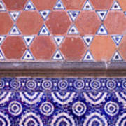 Talavera Tiles Puebla Mexico Art Print