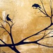 Talking A Lot Of Crow  Art Print