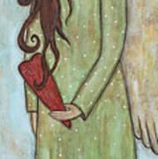 Tall Angel With Heart Art Print