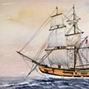 Tall Masted Ship Art Print