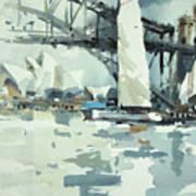 Tall Sails In Sydney Art Print