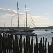 Tall Ship At Dock Art Print