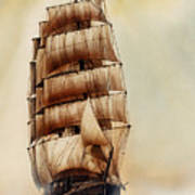 Tall Ship Carradale Art Print