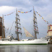 Tall Ship In Tampa Bay Art Print