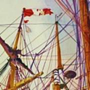Tall Ship Lines Art Print