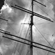 Tall Ship Masts Print by Robert Ullmann