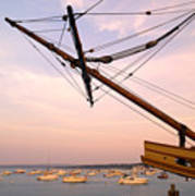 Tall Ship Mayflower II In Plymouth Massachusetts Art Print