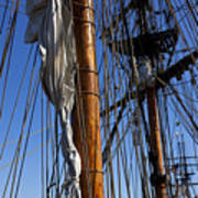 Tall Ship Rigging Lady Washington Art Print by Garry Gay