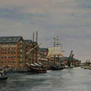 Tall Ships At Gloucester Docks Art Print
