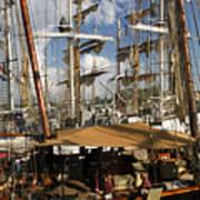 Tall Ships Heritage Landing Art Print