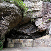 Tallulah Gorge Stone Bench 2 Art Print