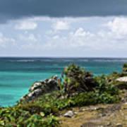 Talum Ruins Mexico Ocean View Art Print