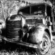 Tam Truck Black And White Art Print
