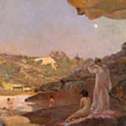 Tamarama Beach Forty Years Ago A Summer Morning  Art Print