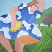 Tambourine Girl Art Print