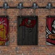 Tampa Bay Buccaneers Brick Wall Art Print