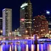 Tampa Bay Pano Lights Art Print