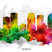 Tampa Florida Cityscape 12 Art Print
