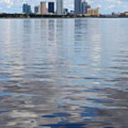 Tampa Skyline Over The Bay Art Print