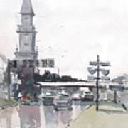 Tampa Tower At Hillsborough Intersection Art Print