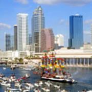 Tampa's Flag Ship Art Print