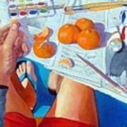 Tangerine Break Art Print