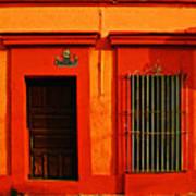 Tangerine Casa By Michael Fitzpatrick Art Print