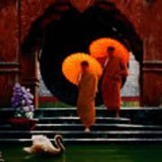 Tangerine Parasols Art Print
