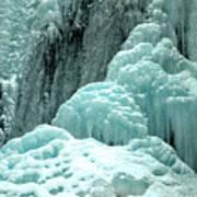 Tangle Falls Frozen Blue Cascades Art Print