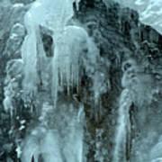 Tangle Falls Frozen Cascade Art Print