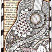 Tangle Guitar 1 Art Print