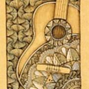 Tangle Guitar Art Print