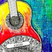 Tangle Guitar No 4 Art Print